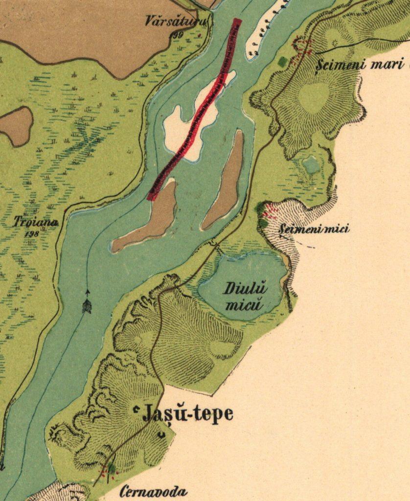 Seimenii Mari - localizare pe Harta Szatmari 1864