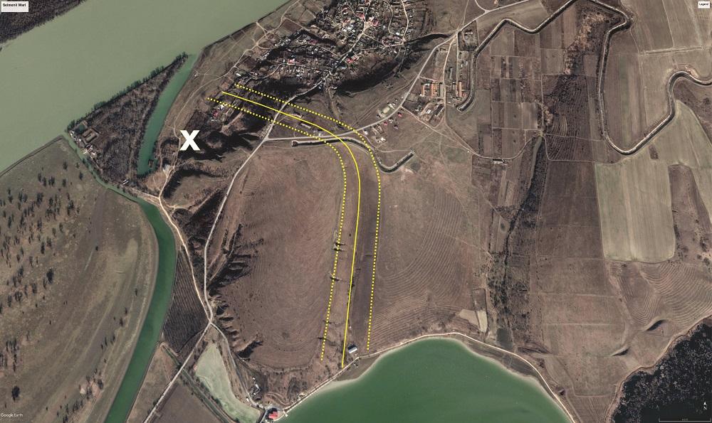 Seimenii Mari - ortofografie (Google Earth)
