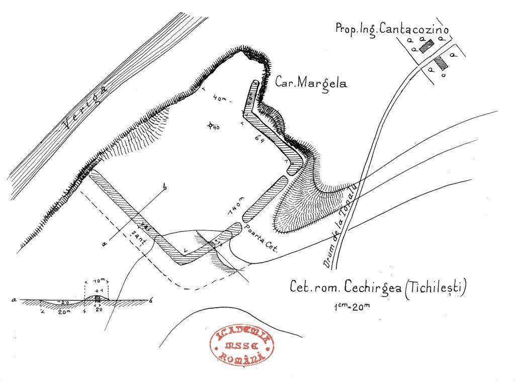 Stânca Topalu - planul cetății