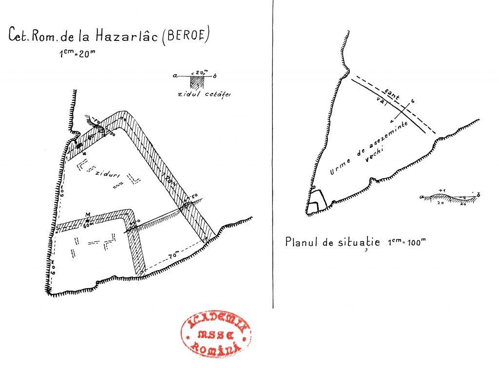 Gârliciu (Cius) - planul cetății după P. Polonic