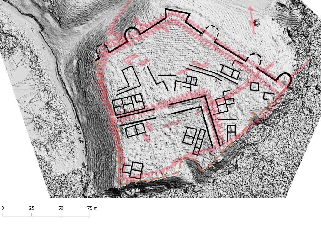 Gârliciu (Cius) - planuri suprapuse peste Hillshade
