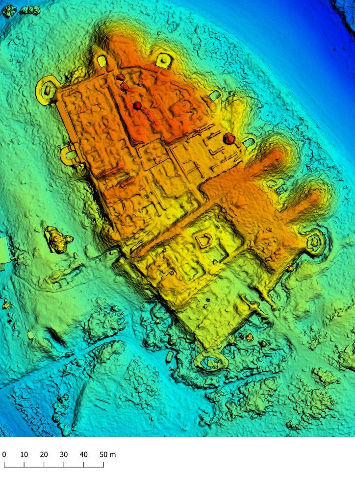 Dinogetia - model digital al terenului
