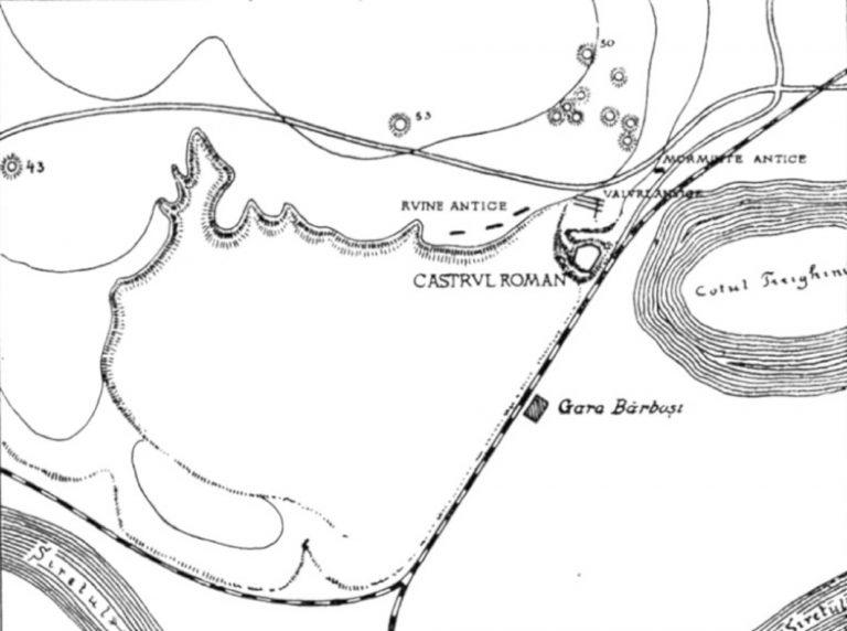 Galati - planul castrului roman