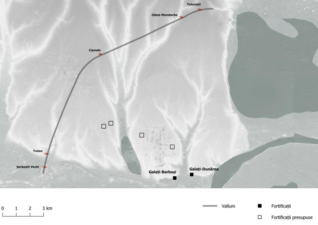 Galati - Fortificațiile romane din interiorul valului Traian-Tulucești