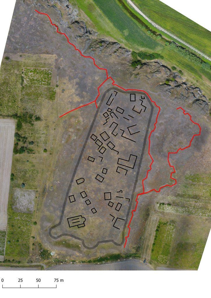 Luncavița - Reconstituirea planului fortificației